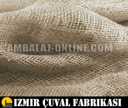 İZMİR ÇUVAL FABRİKASI - 7 lik Kanaviçe Jüt Kumaş 1 mt en