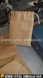 İZMİR ÇUVAL FABRİKASI - Büzmeli Jüt Kanaviçe Torba