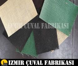 İZMİR ÇUVAL FABRİKASI - Renkli Kanavice Jut LAMİNELİ en 130 cm